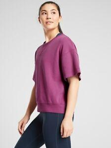 ATHLETA Modern Sundown Sweatshirt Tee NWT - SMALL TALL Magnolia Purple #566621