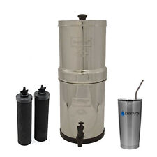 Big Berkey Water Filter System w/ 2 Black Berkey Elements & 20 oz SS Cup