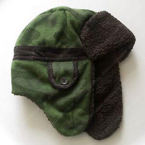 gap kid toddler boy girl unisex Fleece sherpa hat green camouflage or navy blue