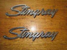 LOT OF 2 CORVETTE STINGRAY 1974 - 1976 FENDER EMBLEM FREE SHIPPING