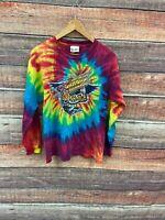 VTG Single Stitch Aerosmith Rock N Roller Coaster T-Shirt Tie Dye Disney SZ L