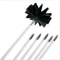 Nylon Chimney Brush Rod Kit Electrical Rotary Drill Drive Sweeping Clean Use Kit