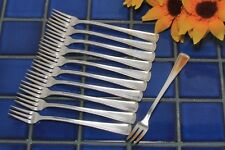 11 International Victor Silver Co NORMAN Seafood Cocktail Forks 1953 FREE SHIP