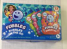 Little Kids Fubbles Bubbles On The Go 12Pk - OPEN BOX