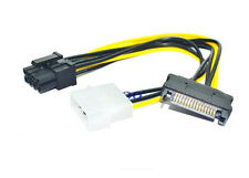 100pcs 15 Pin SATA IDE to 8Pin(6in+2pin) PCI-E Power Cable for Graphic Card