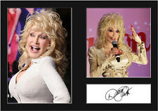 DOLLY PARTON #1 Signed Photo Print A4 Mounted Photo Print - FREE DELIVERY