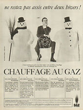 Publicité 1965  GAZ DE FRANCE chauffage