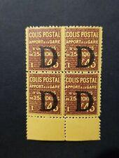 FRANCE TIMBRE COLIS POSTAUX CP BLOC DE 4 N°127 NEUF ** LUXE MNH 1926 COTE 33,00€