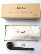Vintage Hickok Sportsman Billiard Tobacco Pipe Imported Algerian Briar Wood NIB
