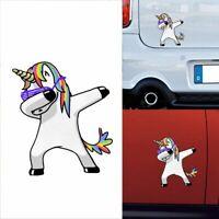 Lovely Gracioso Impermeable Pegatinas de coches Cartoon Unicornio Windows Decal