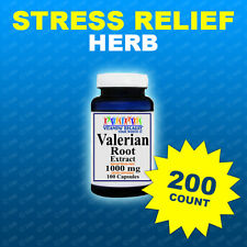 Valerian Root 1000mg 200 Capsules Max Strength  Relax, Sleep, Herb Made In USA