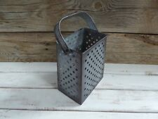 Metal Cheese Grater Style  Flower Vase Plant Urban Farmhouse Rustic Home Decor