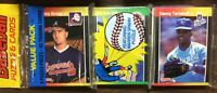 1989 DONRUSS Rack Pack DANNY TARTABULL, M WILSOX on Top PUZZEL on Bk  D4020228