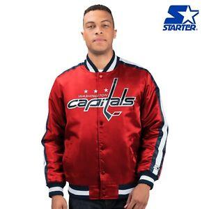 Washington Capitals NHL Men's Starter O-LINE Button Up Satin Jacket - Red