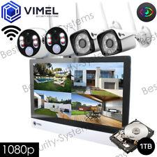 Wireless Surveillance Home 1TB NVR Display System IP Cameras Thermal Sensor
