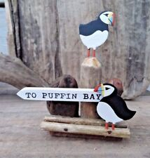 Puffin Bay Small Nautical Driftwood Standing Decoration Ornament by Shoeless Joe