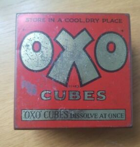 Vintage OXO Beef stock cubes tin - Old advertising kitchen decor