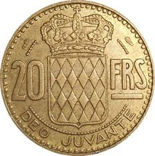 MONACO 20 Francs 1951 KM#131 Rainier III (4178) mintage: 500,000