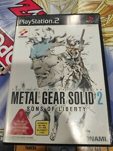 ⭐METAL GEAR SOLID 2 SONS OF LIBERTY SONY PLAYSTATION 2 PS2 JAPAN JAP NTSC-J🎌⭐