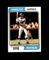 Amos Otis Hand Signed 1974 Topps Kansas City Royals Autograph