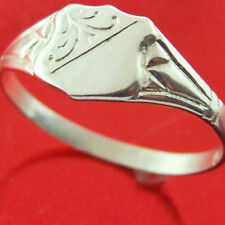 Ring Real 925 Solid Sterling Silver Antique Engraved Celtic Shield Signet O  7