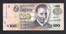 Uruguay p-88a , F, 100 Pesos Uruguayos, 2008 , REPLACEMENT Prefix Z