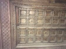 Carved indian antique wood door - intricate carving is beautiful