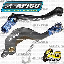 Apico Black Blue Rear Brake & Gear Pedal Lever For Yamaha WR 450F 2009 Motocross