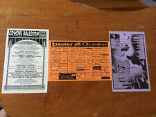 various show Schedules crystal ballroom Tractor Paradise lounge