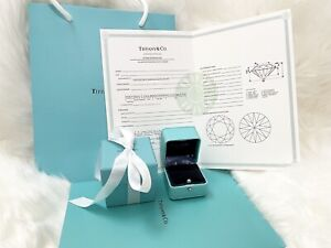 Tiffany & Co Engagement Ring Box + Outer Box + Certificate + Folder +Bag