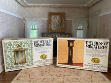 Vintage Dollhouse House of Miniatures Victorian Clock & Wall Mirror DIY Kits