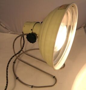 1950s – 60s PIFCO INFRA RED TABLE LAMP REPLUGGED AS A DESK LAMP