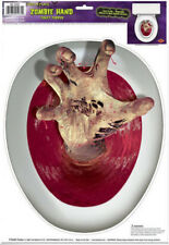 TOILET TOPPER bloody Zombie Hand design 1 cling bathroom lid seat decal sticker