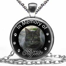 Custom Your Pet's Photo Memorial Glass Pendant Necklace Handcrafted Personalized