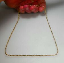 """14K SOLID GOLD 20"""" Awesome Diamond Cut Rope Link Chain Necklace MINT"""