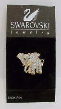 Swarovsk Crystal elephant tack pin