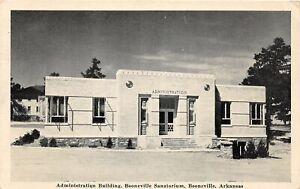 G95/ Booneville Arkansas Postcard 1943 Admin Building Sanatorium