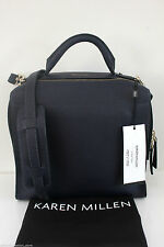 Karen Millen Large Blue Cross Body Ladies Leather Hand Box Grab Bag GX134 New