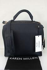 Karen Millen Large Blue Cross Body Ladies Leather Hand Box Grab Bag GX134 New