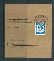 Berlin MiNr. 203 auf Zeitungsdrucksache - Banderole gestempelt