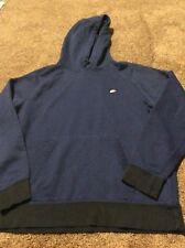 Nike Men's Cotton Hoodie Pullover Hooded Blue & Black Sweatshirt Size L Large