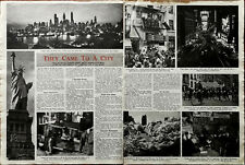 More details for new york, they came to a city from all over the world… vintage article 1948