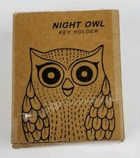 Night Owl Black Magnetic Wall Key Holder Easy To Mount  Key Rack