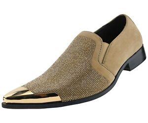 Amali Smoking Slippers Formal Tuxedo Loafers Rhinestone Slip On Dress Shoes