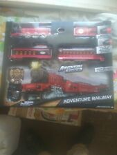 New adventure force adventure railway working lights and moke stack 13' track