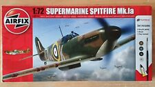 🌟Airfix airplane RAF Supermarine Spitfire Mk.Ia Model Kit 1:72. Free P&P.🌟