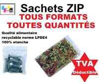 Lots de Sachet plastique fermeture ZIP Transparent bag pochon Pochette pression