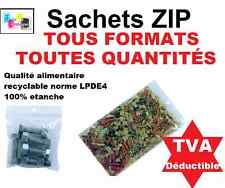 Lots de Sachet plastique fermeture ZIP Transparent bag pochon Pochette pression