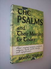 THE PSALMS AND THEIR MEANING FOR TODAY by Samuel Terrien 1952 HCDJ