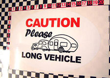 Classic Touring Caravan Long Vehicle Warning Sticker - Carlight Thomson Sprite